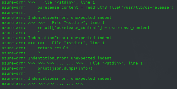 Python complaning about indentation errors from Ansible files